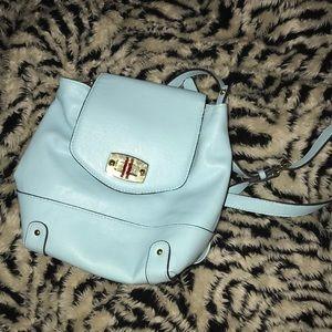 Mini baby blue backpack merona